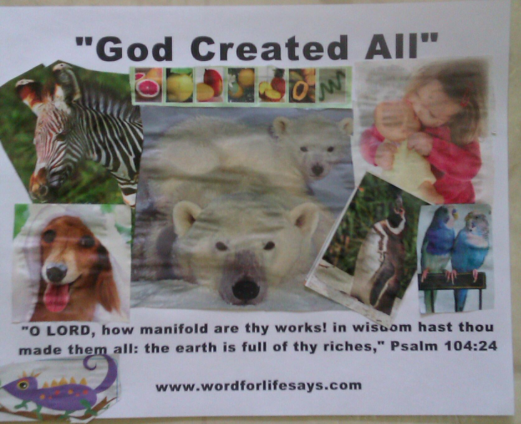 God created all god creates sunday school lesson psalm 1045 9 below are even more activities to support this weeks lesson note in dealing with creation the options are endless so below i have linked some of my robcynllc Image collections
