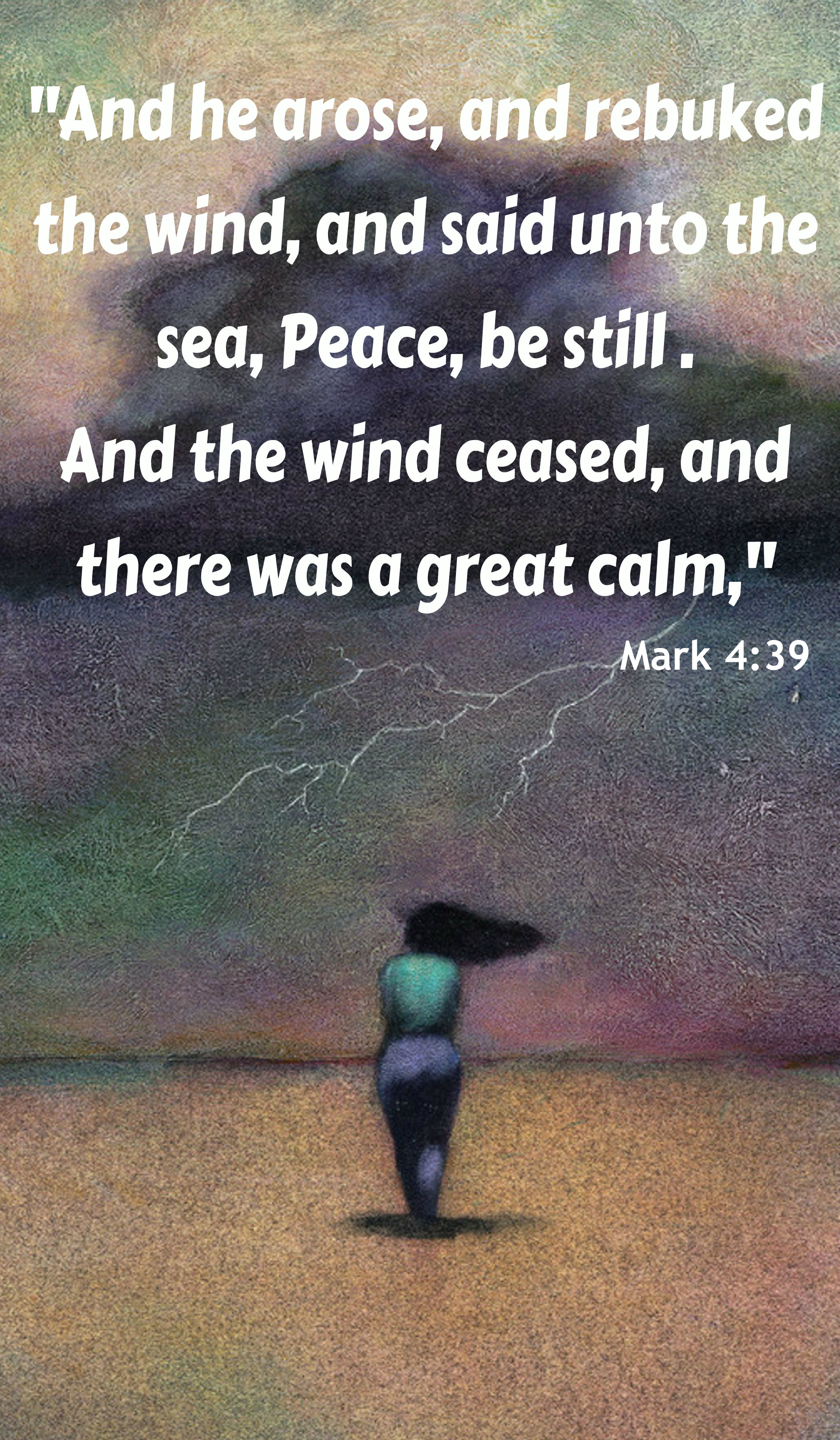 "Words To Live By – ""Jesus Can Speak Peace to Any Storm"