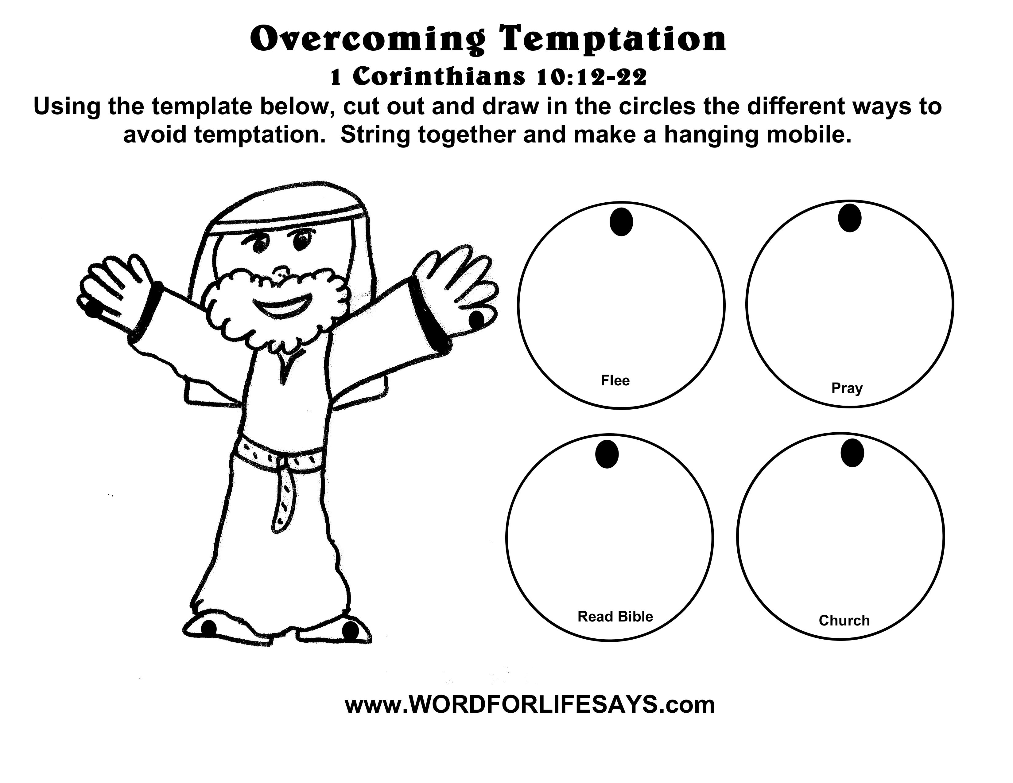Overcoming Temptation Sunday School Lesson 1 Corinthians 10 12 22 July 20 2014 Word For