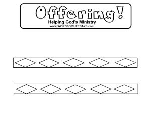 Offering Craft Activity Sheet-001