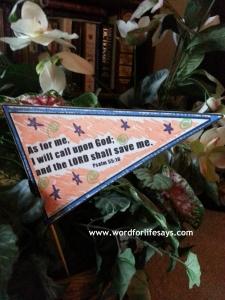 Psalm 55 16 Flag Activity