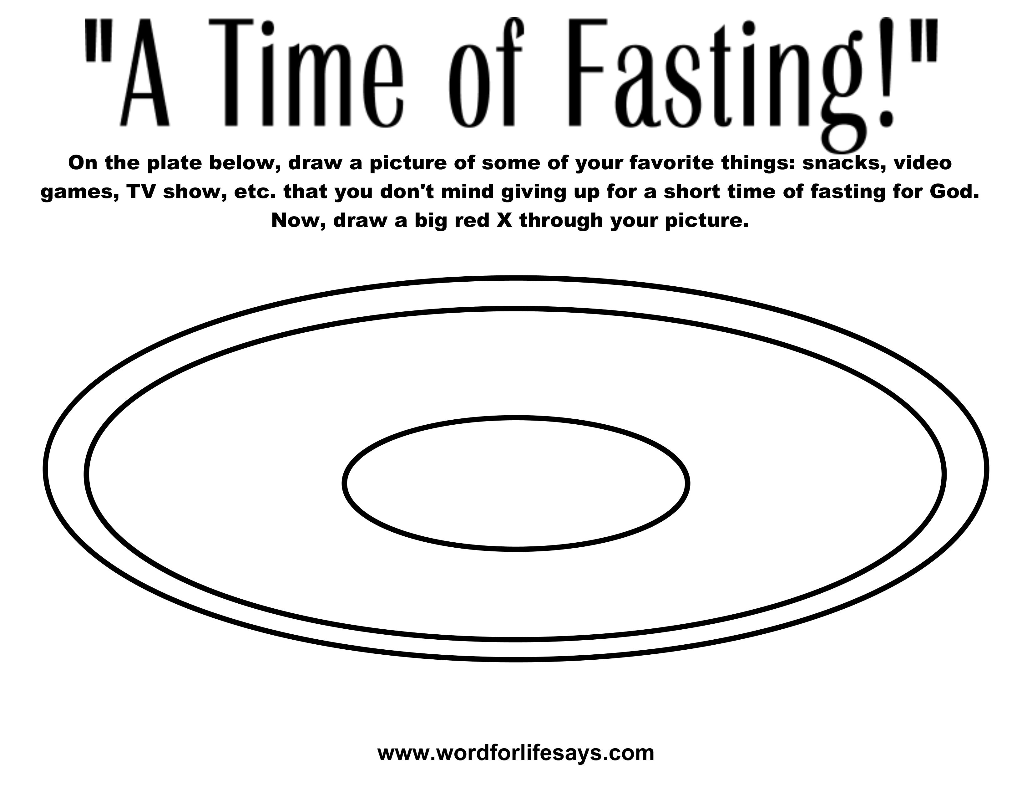 Fasting And Prayer Coloring Pages
