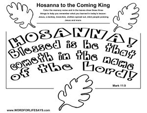 Hosanna to the Coming King Draw the Scene-001