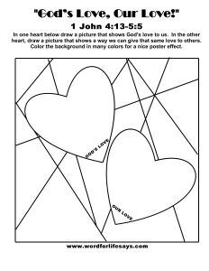 God's Love Our Love Draw the Scene-001