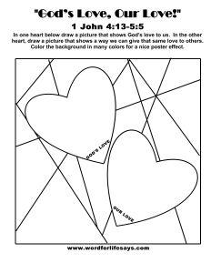 God Is Love 1 John 4 11wordforlifesaysgod 11Gods Our Draw The Scene 001