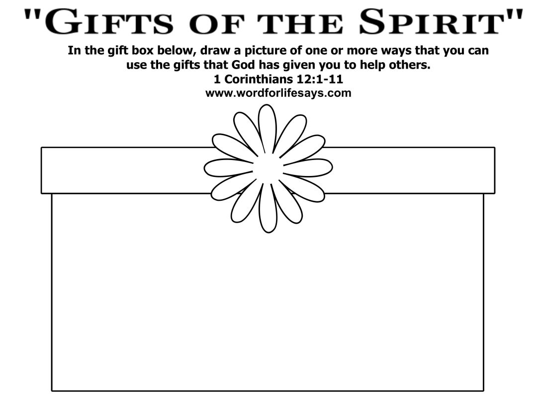 Gifts of the holy spirit worksheet lamoureph blog for Gifts of the holy spirit coloring pages