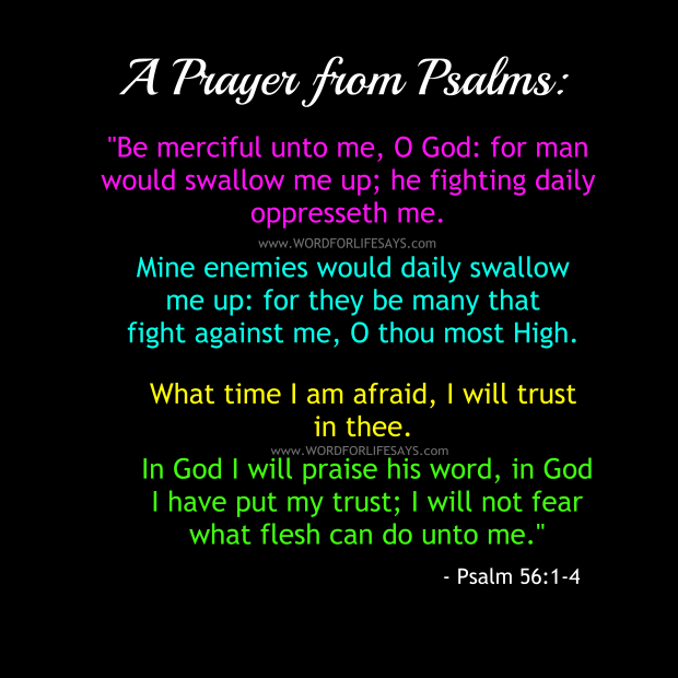 Psalm 56 Prayer Poster
