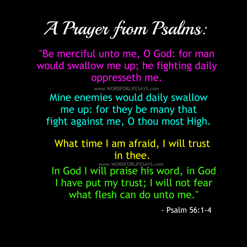 Psalm 56 Prayer Poster