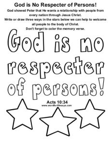 God is No Respecter of Persons Draw the Scene-001