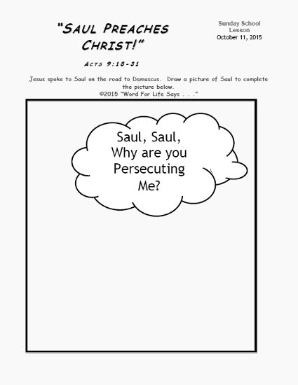 saul conversion story coloring pages - photo#33