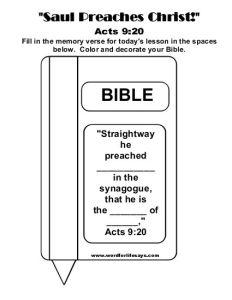 Saul Preaches Christ Memory Verse-001