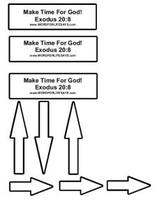 Make Time For God Clock Craft-001