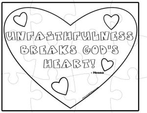 Unfaithfulness Breaks God's Heart Puzzle-001