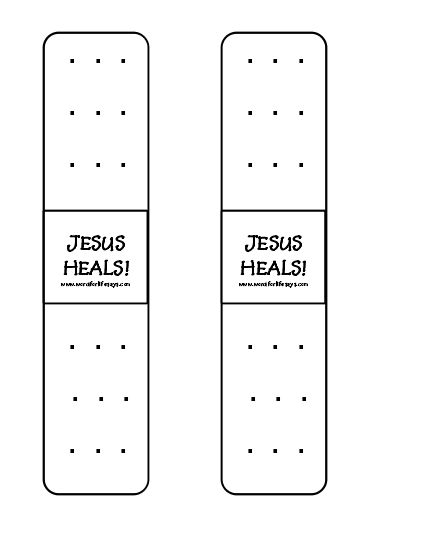 Jesus Heals Bookmarks 001