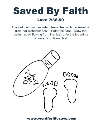 coloring pages luke 7 - photo#34