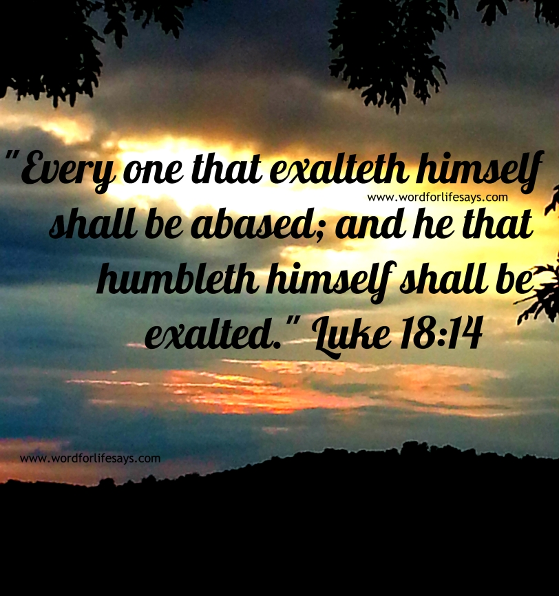every one that exalteth himself