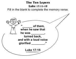 The Ten Lepers Memory Verse-001