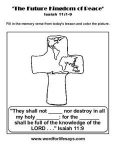 The Future Kingdom of Peace Memory Verse-001