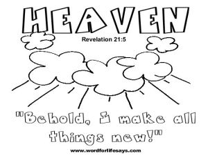 Revelation 21 Coloring Page Sketch Coloring Page