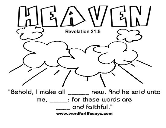 Johns Vision Of Heaven Coloring Page