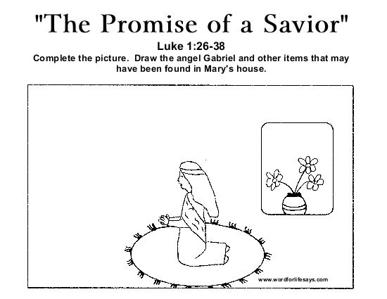 The Promise Of A Savior Draw Scene