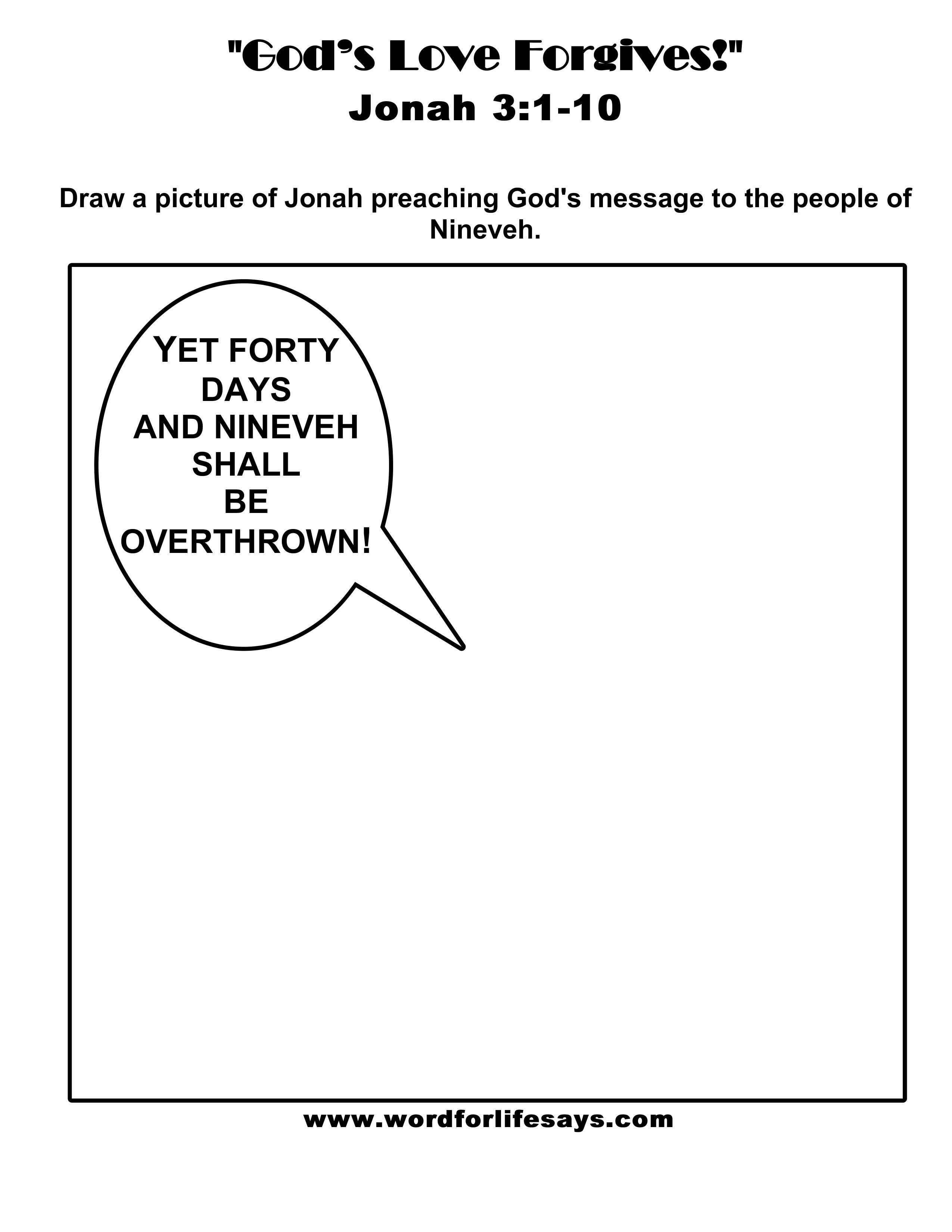 god u0027s love forgives u201d sunday lesson summary for jonah 3 1