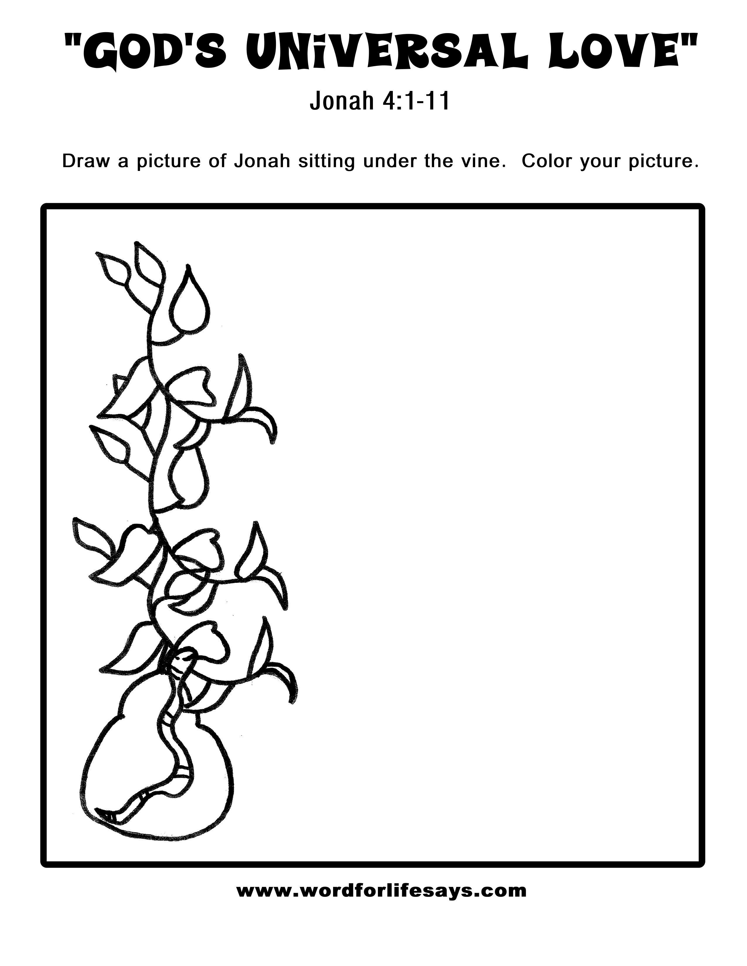 god u0027s universal love u201d sunday lesson summary for jonah 4