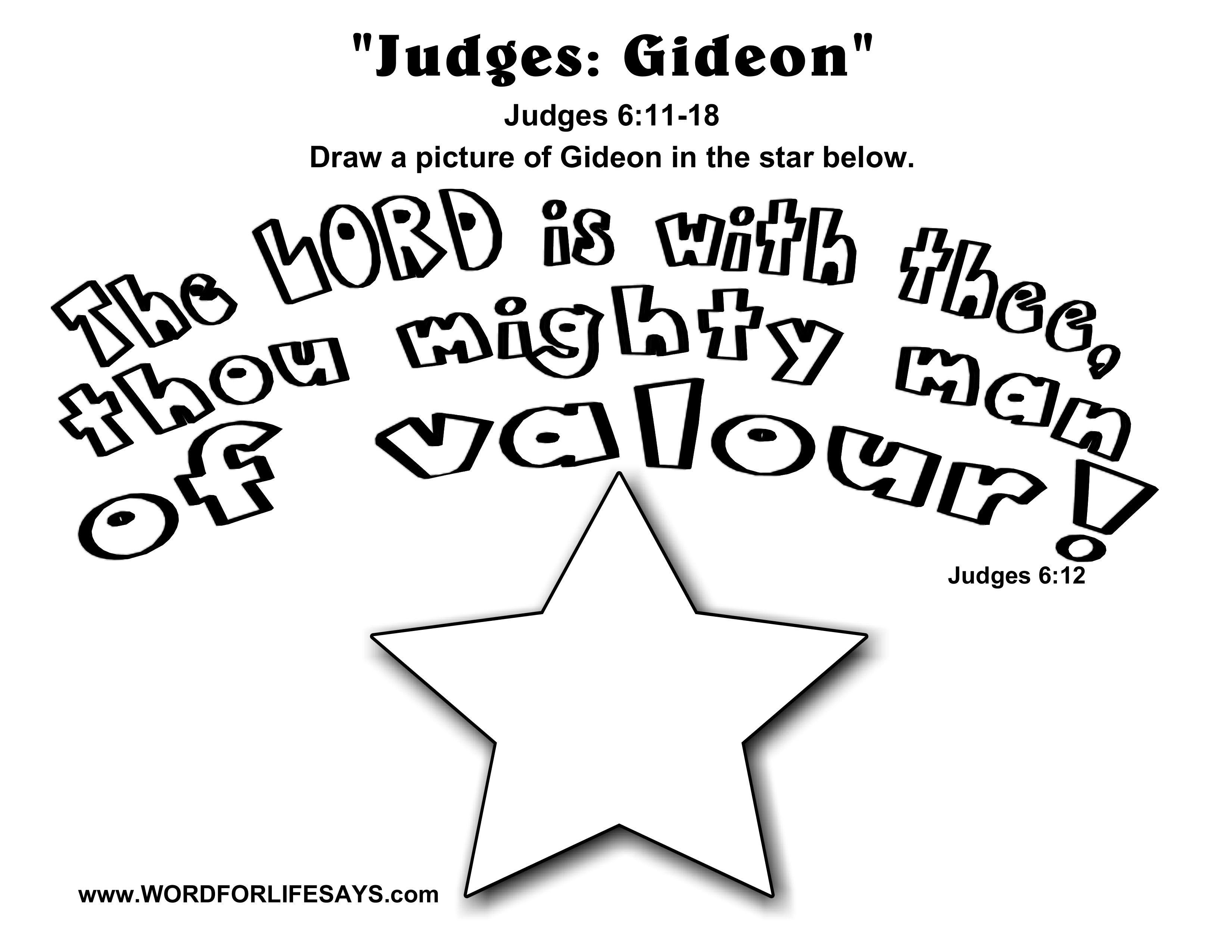 judges gideon u201d sunday lesson summary for judges 6 11 18