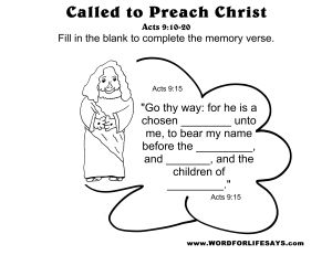 Draw The Scene Called To Preach Christ