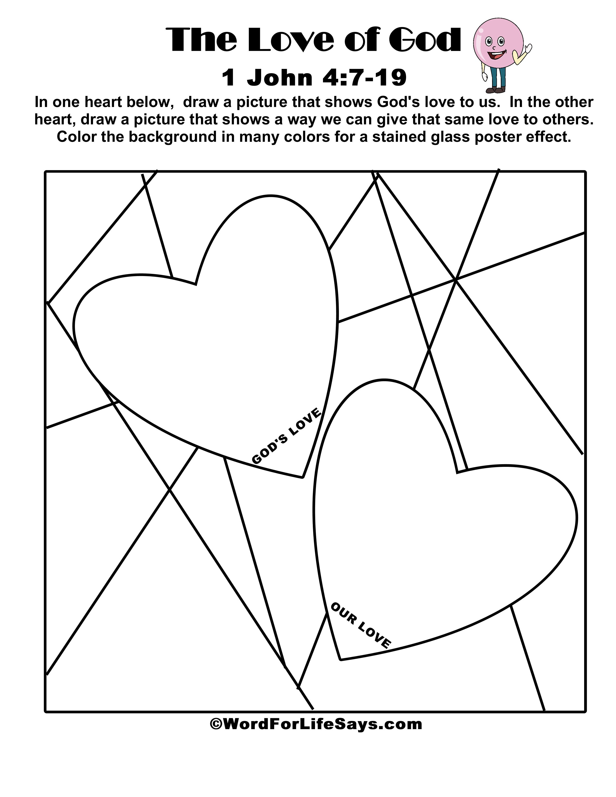 Coloring Page Love One Another Bible Verse Coloring Page | TpT | 3300x2550