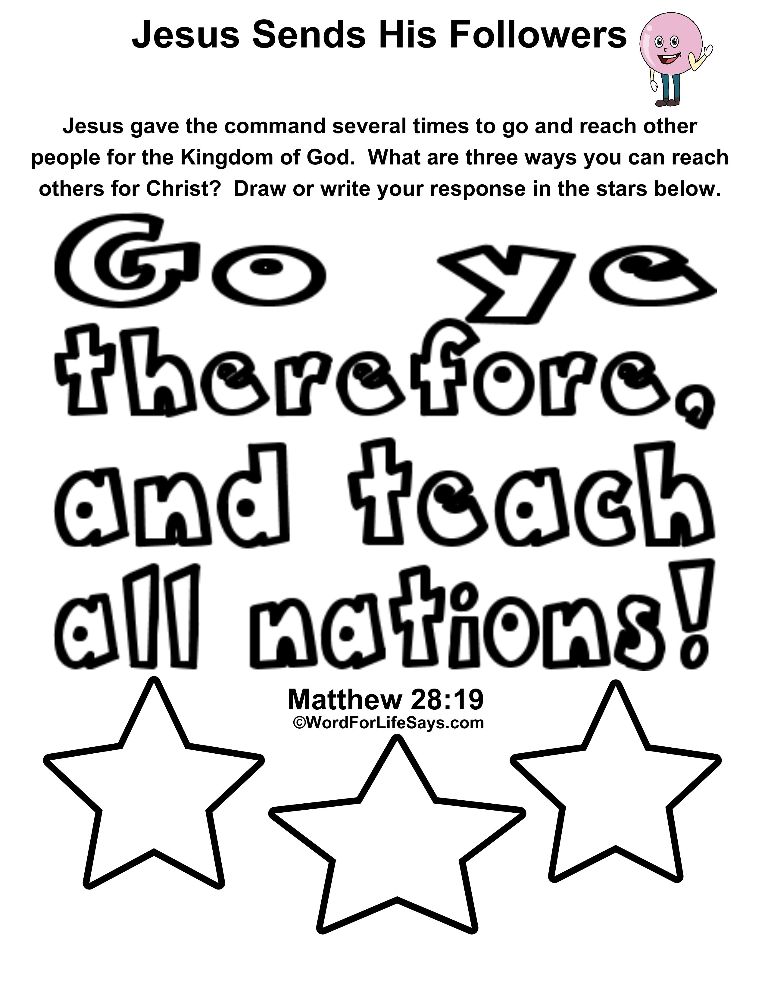 Free Bible Coloring Pages Putting god first | 3300x2550