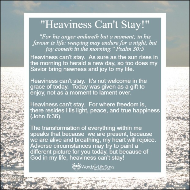 heaviness can't stay - my pic